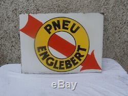 Plaque Emaillee Ancienne Englebert