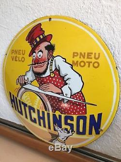 Plaque Émaillée Ancienne Hutchinson