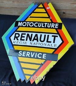 Plaque Émaillée Ancienne Motoculture Renault/Garage ancien/garage vintage