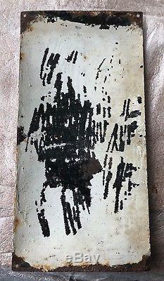 Plaque Émaillée Ancienne Potages Maggi