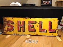 Plaque Émaillée Ancienne Shell