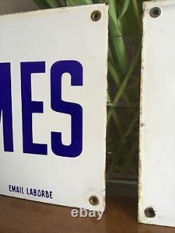 Plaque Emaillee Ancienne Vintage Laborde Gare Wc Toilettes Salle De Bains Loft