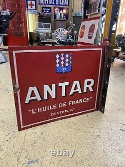 Plaque Emaillee Antar Ancienne Huile Enamel Sign Emailschild Oil Yacco