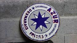 Plaque Emaillee Azur