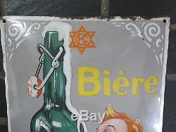 Plaque Émaillée Bière La Perle 1930 Eas