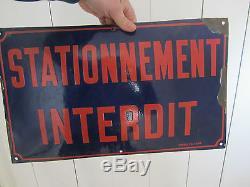Plaque Emaillee Bombee Ancienne Stationnement Interdit Ed Jean Garage Automobile