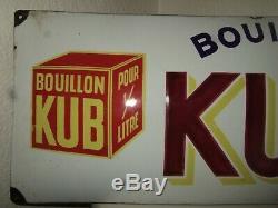Plaque Émaillée Bouillon Kub XX Eme, Date De Juin 1937 Dans Son Jus