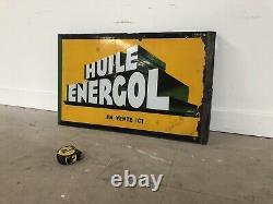 Plaque Emaillee Bp Energol Double Face Enamel Sign Emailschild Bord Oil