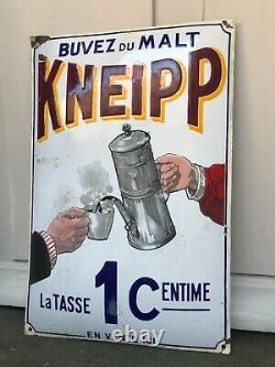 Plaque Emaillee Buvez Du Malt Kneipp 1 Centime