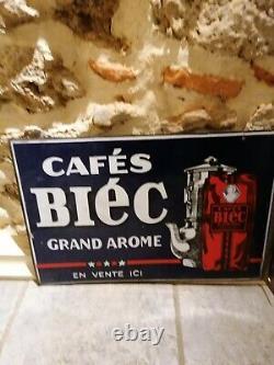Plaque Émaillée Café Biec 2 faces