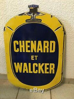 Plaque Emaillee Chenard Et Walcker 1920