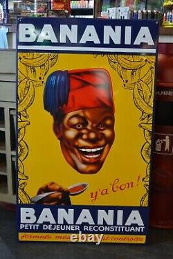 Plaque Emaillee Chocolat Banania Enamel Sign