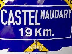 Plaque Emaillee Citroen Castelnaudary-toulouse