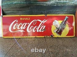 Plaque Emaillee Coca Cola 140/50cm