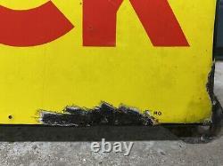 Plaque Émaillée Dunlop Ancienne Enamel Sign Emailschild