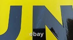 Plaque Émaillée Dunlop D'après Savignac EAS Collection Garage Plaque Émaillée