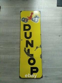 Plaque Émaillée Dunlop Savignac enamel sign