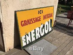 Plaque Emaillée ENERGOL GRAND MODÈLE