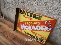 Plaque Emaillee Epicerie Fine Produits Mokaor