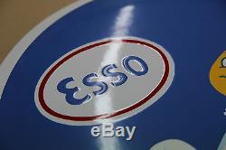 Plaque Emaillée Esso ø40 cm