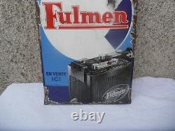 Plaque Emaillee Fulmen Grand Model