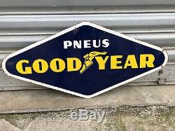 Plaque Emaillee Goodyear