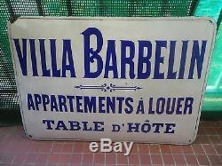 Plaque Emaillee Hotellerie Villa Barbelin Plombieres Les Bains Vosges 1900 Rare