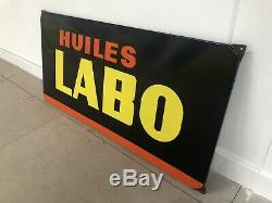 Plaque Emaillee Huiles Labo Ancienne Enamel Sign Emailschild Publicitaire