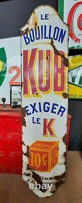 Plaque Emaillee KUB 2 Metres