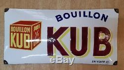 Plaque Emaillee Kub 1936 Etat Sup
