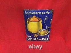 Plaque Émaillée La Poule Au Pot, Plaque Émaillée, La Poule Au Pot