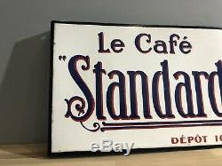 Plaque Emaillee Le Cafe STANDARD