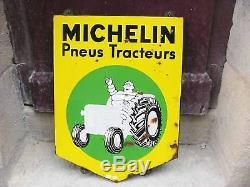 Plaque Emaillee Michelin Tracteur Agricole Pneu
