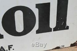 Plaque Emaillee Mobiloil Gargoyle 80x120cm Annees 30 Garage Automobile Huile