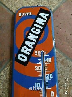 Plaque Émaillée Orangina Originale Thermometre Tole