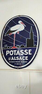 Plaque Emaillee Originale Potasse D'alsace