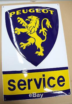 Plaque Emaillée PEUGEOT SERVICE 35x60 cm
