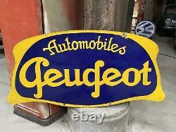 Plaque Émaillée Peugeot Ancienne Enamel Sign Emailschild