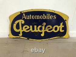 Plaque Emaillee Peugeot Ancienne Enamel Sign Emailschild