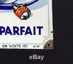 Plaque Émaillée Poule au Pot datée 1935