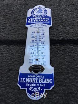 Plaque Emaillée Propreté Thermomètre Vêtements Travail Le Mont Blanc 7 x 26 cm