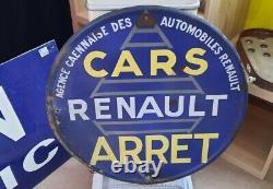 Plaque Emaillee RENAULT
