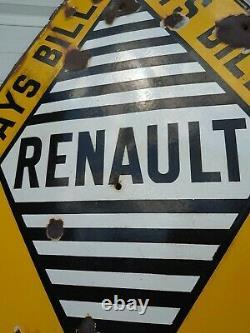 Plaque Émaillée Renault 1925