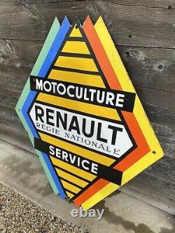Plaque Émaillée Renault Ancienne Enamel Sign Emailschild