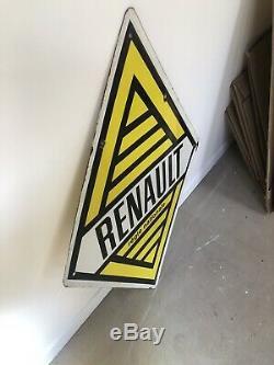 Plaque Emaillee Renault Losange Ancienne Enamel Sign Emailschild
