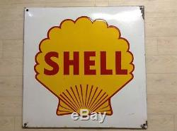 Plaque Emaillee SHELL Bel État