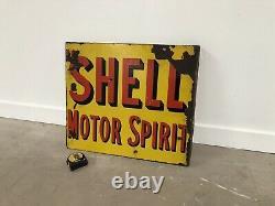 Plaque Emaillee Shell Motor Spirit Enamel Sign Emailschild Porcelain Insegna Oil