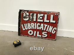 Plaque Emaillee Shell Oil Enamel Sign Emailschild Porcelain Insegna