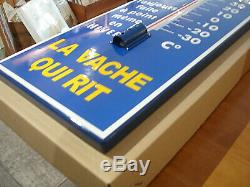 Plaque Emaillee Thermometre Vache Qui Rit A Bords Plies 72 CM Email