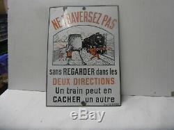Plaque Emaillee Train Ne Traversez Pas Email Laborde
